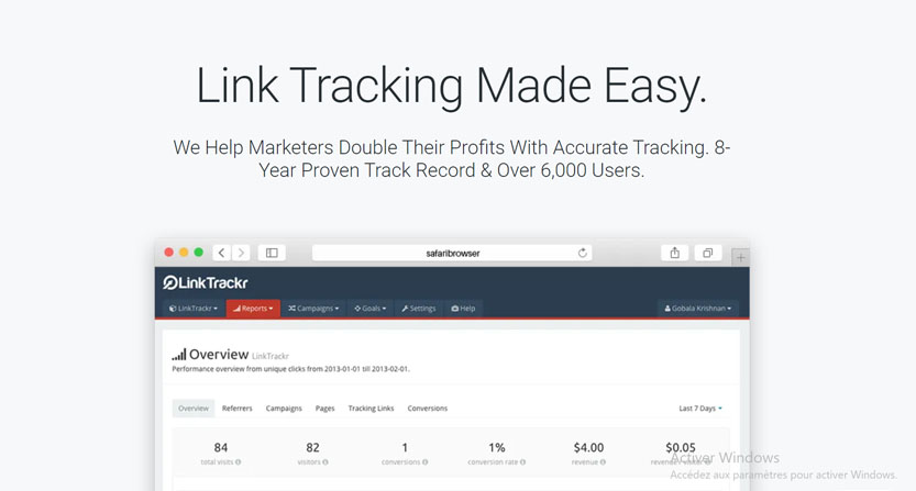linktrackr:  free cloaking software